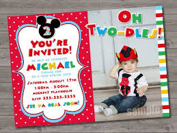 mickey mouse clubhouse personalized party invitations custom
