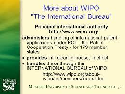 international bureau wipo international prosecution ppt