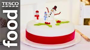 how to make a christmas cake tesco food youtube