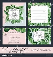 wedding invitation card tropical background banana stock vector