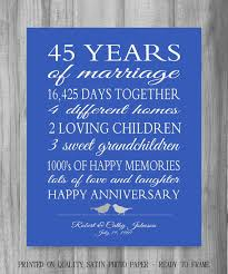 45th wedding anniversary 45th anniversary gift parents sapphire blue personalized