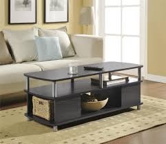 espresso wood coffee table ameriwood home carson coffee table espresso silver walmart com
