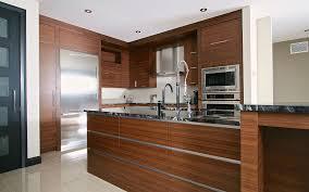 cuisines contemporaines haut de gamme cuisine contemporaine haut de gamme armoires en placage de noyer