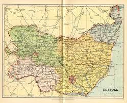 Suffolk County Map Historical Description Of Suffolk England