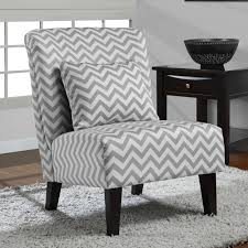 funiture grey fabric wingback accent chair with cushion and