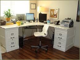 furniture office l shaped office desk white file cabinet black