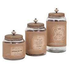 decorative kitchen canisters sets diamond star glass apothecary clear jar with lid set of 3 hayneedle