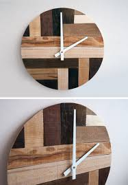 Reclaimed Wood Home Decor 14 Modern Wood Wall Clocks To Spruce Up Any Decor Contemporist