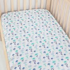 Muslin Crib Bedding Rainy Day Muslin Crib Sheet For Baby Changyi City Hongbo Textile