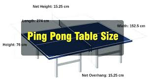 ping pong table dimensions inches regulation ping pong table ping pong table size midsize table tennis