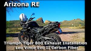 triumph tiger 800 exhaust installation leo vince evo ii unboxing