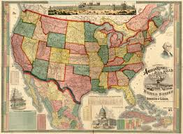 Map If Us United States 1875 Wall Map Mural