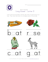 long vowel o worksheet phonics pinterest long vowels