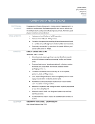 Sample Resume For Forklift Driver by Forklift Resume Samples Free Resume Example And Writing Download