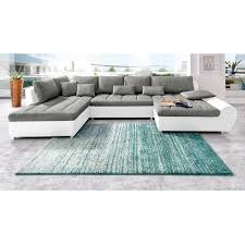 matière canapé canapé panoramique bi matière avec méridienne à droite ou à