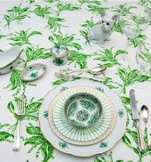 tory burch dinnerware blue white and green vintage table setting flea market finds