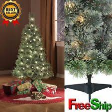 pre lit 4 ft artificial tree green clear lights