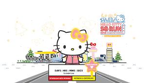 hello kitty run singapore celebrates christmas