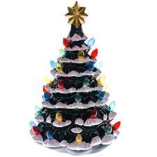 ceramic christmas tree with lights cracker barrel 18 light up ceramic christmas tree collections traditional