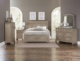 Antique White King Bedroom Sets Windchester 5 Piece King Storage Bedroom Set Grey Leon U0027s