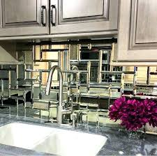 Mirrored Kitchen Backsplash Mirrored Kitchen Backsplash Tiles Ideas Glamorous Tile Mirror