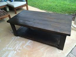 Rustic Side Table Diy Rustic X Coffee Table Plans By Ana White Handmade With