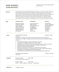 Resume Examples Customer Service Resume by Resume Example For Job 8 Samples In Word Pdf
