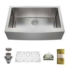 Kitchen Sink Deep Zuhne 33 Inch Farmhouse Apron Deep Single Bowl 16 Gauge Stainless