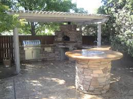 Outdoor Kitchen Roof Ideas by Witching Brown White Colors Outdoor Kitchen Pergola Come With