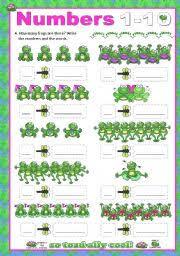 english teaching worksheets numbers 1 10