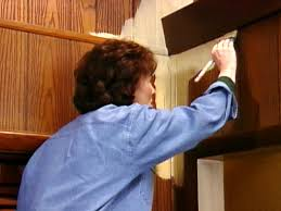how to paint over vinyl paneling knotty to nice painted wood