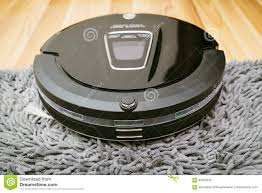 Cleaning Laminate Wood Flooring New Clean Robot Vacuum Cleaner On Laminate Wood Floor Stock Photo