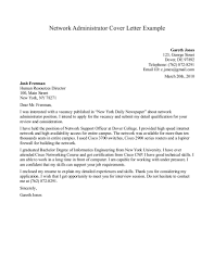 Network Administrator Skills Resume Collection Of Solutions Sample Cover Letter For Network