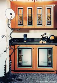 designing kitchen cabinets with stained glass