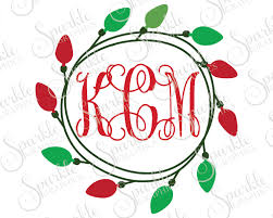 monogram christmas christmas light monogram frame christmas x christmas svg
