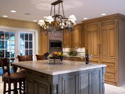 gray solid surface countertop on white island black pendant lights