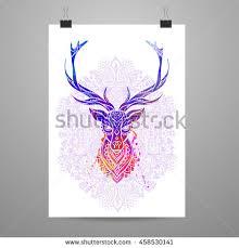 ornament deer vector beautiful illustration design stock vector