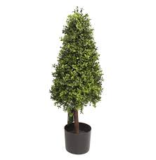 Gardenia Topiary Artificial Boxwood Tower Fake Topiary Tower Blooming Artificial