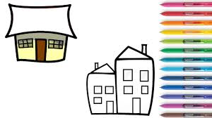 house colouring how to draw house home colouring book for kids learning coloring