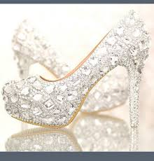 wedding shoes platform rhinestone shoes high heeled white wedding shoes