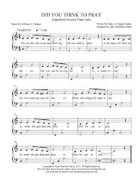 thanksgiving prayer song did you think to pray 17 free arrangements