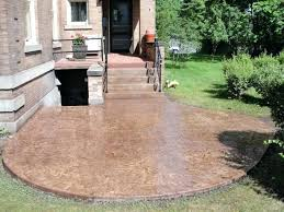 Concrete Ideas For Backyard Stamped Concrete Backyard U2013 Mobiledave Me