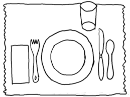 Classy Idea Plate Coloring Page Favorite Foods Pages Craft Plate Coloring Page