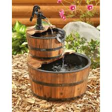 barrel water fountain size great home decor barrel water