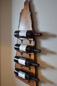 natural wood with live edge wine rack dc apartment pinterest