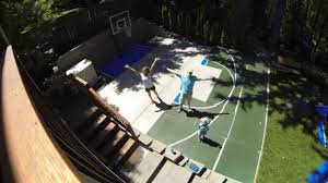 time lapse dunkstar basketball court install youtube