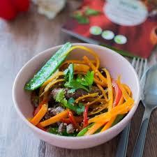 recette cuisine wok recette de wok de bœuf aux légumes croquants panier cuistot par