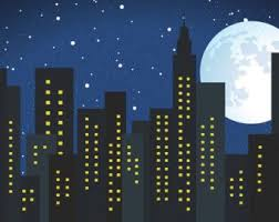 backdrop city backdrop moon sky 6 ft x 6 ft vinyl backdrop for