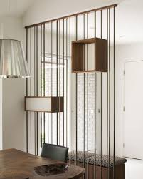 design detail metal rods and wood boxes were used to create a