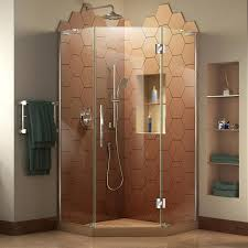 38 Shower Door Shop Dreamline Prism Plus 38 In To 38 In W Frameless Chrome Hinged